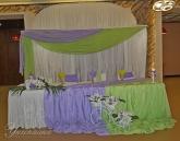 Годеж в зелено и лилаво