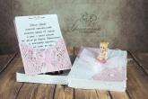 Покана за Кръщение в розов цвят