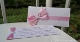 Покана за кръщене на момиче в розово