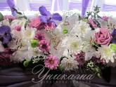 Сватбена украса в светло лилаво