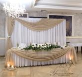 Украса за сватба в цвят капучино