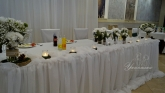 Аранжировка и декорация за маса младоженци