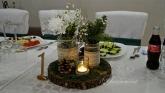 Аранжировка и декорация за маса гости