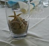 Украса за маса гости с морски елементи