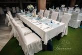 Декорация и аранжировка на маса гости за Сватба