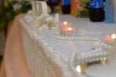 Стъклени свещници за маса младоженци