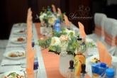 Цветна аранжировка за маса гости на Сватба