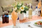 Украса на Сватба в прасковен цвят