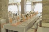 Украса за сватба в прасковен цвят