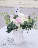 Сватбена украса в нежно розово