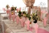 Украса за сватба в светло розово