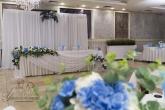 Украса за сватба в светло синьо
