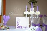 Свещник за декорация на маса младоженци