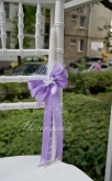 Украсена свещ за Кръщене в лилаво