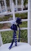 Украсена свещ за Кръщене в синьо