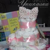 Торта от памперси за - Кръщене