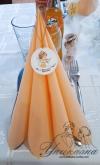 Украса за Кръщене в прасковен цвят