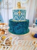 Украса на Кръщене в бяло и синьо