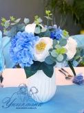 Украса за Кръщене в синьо и бяло