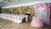 Украса на ресторант за Кръщене в розово